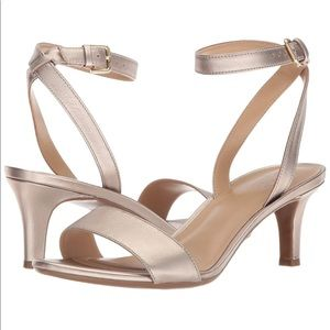 NATURALIZER Tinda Ankle Strap Heel Sandals Gold